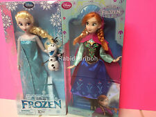 """Disney Frozen Elsa (with Olaf) and Anna 12"""" Dolls - Classic!"""