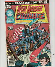 Marvel Classics Comics,#10 52 page.Red badge of Courage,  Civil War, Comic Book