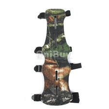 Camouflage 4 Strap Leather Shooting Target Archery Arm Guard Protection NEW