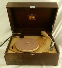 Vintage HMV Double C Stylus 3 Speed Portable Compact Record Player Restoration