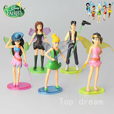 5X Tinker Bell Fairies Princess Figures PVC Doll Toy Cake Topper 14cm Party Gift