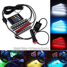 4X 9 LED Automotive Ambient Light Car Interior Atmosphere Footwell Lamp + Remote
