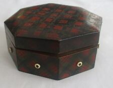 ANTIQUE  TARTAN WARE CLARK & CO COTTON DISPENSER BOX