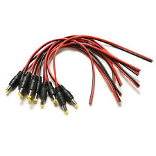 Great 10X 12V DC Power Pigtail Male 5.5*2.1mm Cable Plug Wire for CCTV Security