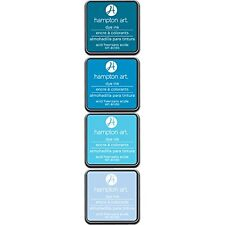 Hampton Art Mini Dye Ink Pads Ocean Breeze 4 Colors