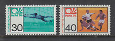WEST GERMANY MNH STAMP DEUTSCHE BUNDESPOST 1974 WORLD CUP FOOTBALL SG 1707-1708