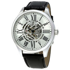 Invicta Vintage Objet D Art Automatic Silver Dial Mens Watch 22566