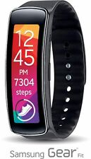 Samsung SM-R350 Black Galaxy Gear Fit Activity Tracker w/HR Monitor Smart Watch