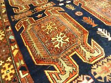 "C 1930 Stunning Antique Caucasian Lenkoran Persian Exquisite Rug 4' 6"" x 10' 1"""