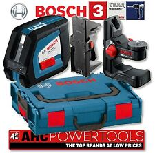 Bosch GLL 2-50 Cross Line Laser Level + BM1 Wall Mount, Ceiling Clamp