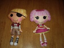 """EUC 10"""" Lalaloopsy Patch w Parrot Bird and Jewel Sparkles Dolls Soft Rag Style"""
