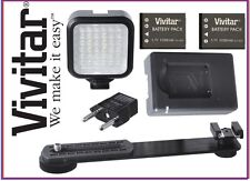 LED Light With 2 Battery+Charger for Sony Alpha A5000 A5100 ILCE-5000 ILCE-5100