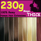 Mega THICK Clip in Remy Human Hair Extensions Full Head Black Brown Blonde Girl