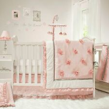 Peanut Shell 5 Piece Baby Nursery Crib Bedding Set Arianna with Mobile NEW