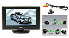 NEW Pyle PLCM44 4.3'' TFT LCD Monitor w/ Universal  Rear View and Backup Camera
