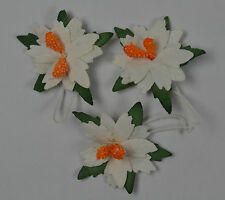 24 WHITE POINSETTIA (2.5cm) Mulberry Paper for Flowers wedding crafts cards