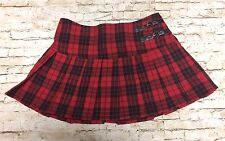 Abbey Dawn by Avril  Lavigne Plaid Mini School Girl Skirt Size 7 Red Black