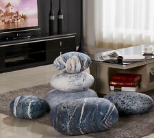 A set/6pcs Patterned pebble stone pillows rock cushions decorative hugged pillow