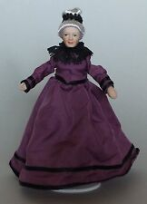 1/12TH  DOLLS HOUSE  VICTORIAN GRANDMOTHER IN  PURPLE DRESS
