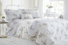 ELEGANT HOME EMMA FLORAL KING SIZE DUVET SET 100% COTTON SATEEN 200 THREAD COUNT