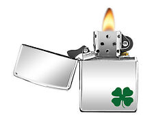 Zippo Lighter 24007 High Polish Chrome A Bit 'O' Luck Classic NEW