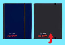 ULTRA PRO FLIP BLACK BLUE PRO-BINDER 160 Cards 20 Side Load Pages MTG Book Album