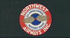 UNITED STATES EARLY AIR MAIL label NORTHWEST AIRWAYS Inc *CINDERELLA*