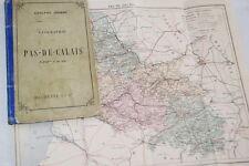 GEOGRAPHIE DU PAS DE CALAIS JOANNE PLANCHES CARTE 1880