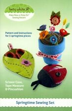 Springtime Sewing Set - Pattern by Betz White - Scissor Case and Pincushion
