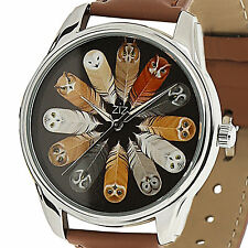Backwards Womens Quartz Watch Owl Unique Dial Reverse Movement Valentine's Gift