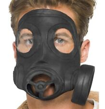 Halloween Fancy Dress Mens Adult Latex Mock Gas Mask New by Smiffys