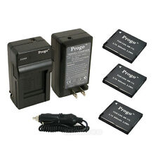 3 x NB-11L Battery + Charger For Canon Powershot A2600 A3400 A3500 A4000 IS