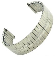 16-22mm Hirsch Twist-O-Flex Silver Tone Nickel Free Stainless Steel Watch Band