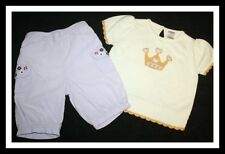 NWT GYMBOREE Royal Garden Crown Gold Sweater Knickers Set Girl Size 3 HTF