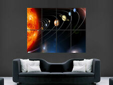 PLANETS SOLAR SYSTEM ORBIT  SUN SPACE ART WALL LARGE IMAGE GIANT POSTER