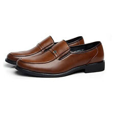 Men Work Business Formal Leather Shoes Classic Flat Oxford Loafer Slip On 38-44