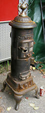 ANTIQUE PRIMITIVE CAST IRON # 9 ROSE ART FINEAL COAL WOOD HEATING HEARTH STOVE