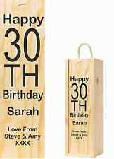 Happy Birthday Personalised Wooden Wine Box With Any Age and Message