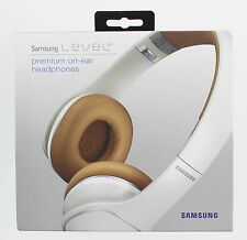 New SAMSUNG Level On White Wired On-Ear Stereo Headband Full Size Headphones