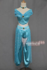 Aladdin Jasmine Princess Halloween Cosplay Costume for Adult Custom Made Costume