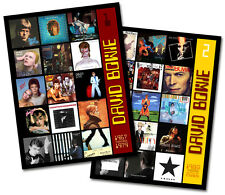 "DAVID BOWIE - twin pack discography magnet set (two 4.75"" x 3.75"" magnets) RIP"