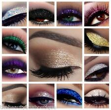 Glitter Eyes Set 2 - 10 X Glitter Pots Fix Gel & Brush Loose Glitter Eye Shadow
