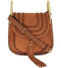 Authentic Chloe Hudson Mini Suede Cross Body Bag Tannish Red/Tan Brown Brand New