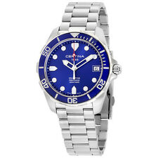 Certina DS Action Blue Dial Stainless Steel  Mens Quartz Watch C0324101104100