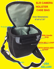 HOLSTER CAMERA CASE BAG With Belt Loop TO: DSLR/SLR/TLR NIKON CANON SONY OLYMPUS
