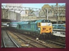 POSTCARD BR CLASS 50 CO-CO NO 50 030 'REPLUSE' AT BIRMINGHAM NEW STREET