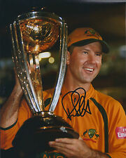 Ricky PONTING Signed Autograph 10x8 Photo AFTAL COA Australia CRICKET In Person
