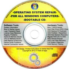 ALL Windows Repair BOOTABLE CD -Virus, Malware & Spyware Removal -Registry Clean