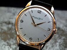 Beautiful Oversize (35 mm) 1950's Solid 18ct Rose Gold IWC Gents Vintage Watch
