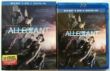 THE DIVERGENT SERIES: ALLEGIANT BLU RAY DVD 2 DISC SET + LENTICULAR SLIPCOVER